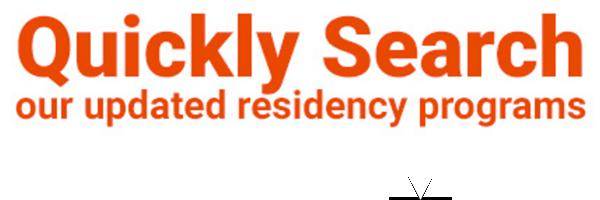 residency programs
