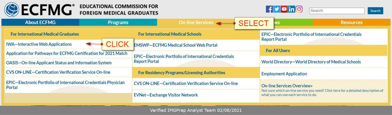 Registering for USMLE Step 1: Apply for your ECFMG/USMLE identification number